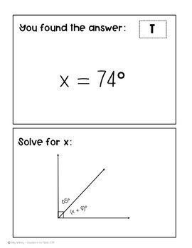 Supplementary, Complementary, Vertical, and Adjacent Angles Activity