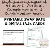 Supplementary, Complementary, Vertical and Adjacent Angles Activity: SWAP