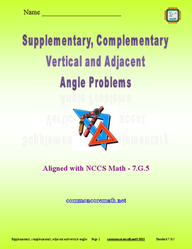 Supplementary, Complementary, Verticle and Adjacent Angle