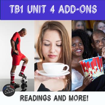 Supplementary materials - TB1 Unit 4 - Soccer, Cafés, Cinéma