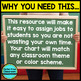 Job Chart EDITABLE for Classroom Jobs