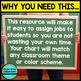 Job Chart -  an EDITABLE Classroom Jobs Display