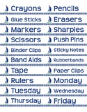 "Supplies Drawer Labels in Nautical Sailboat theme - 4""x1"""