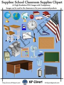 Supplies School Classroom Teacher Supplies Clipart