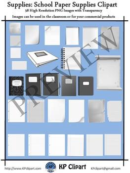 Supplies School Paper Supplies Clipart