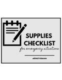 Supplies Stockup Checklist