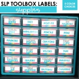 Supplies Toolbox Labels For SLPs