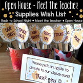 Wish List Classroom Donations for Open House