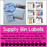 Supply Bin Labels