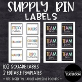 Supply Bin Labels  |  EDITABLE