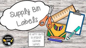 Supply Bin Labels (Set of 18)