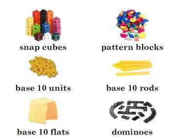 Supply Bin Labels for Math & Classroom Supplies