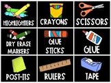 Supply Bin Labels in THREE STYLES!