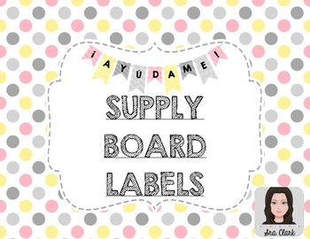 Supply Board Labels - Spanish