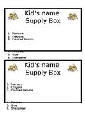 Supply Box Labels!