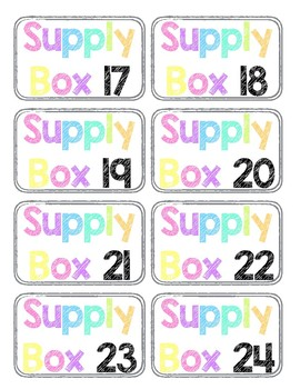 Supply Box Labels