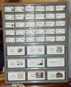 Supply Box Labels (39 Drawer Storage Cabinet)