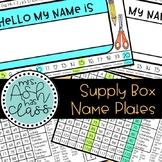 Supply Box Name Plates EDITABLE