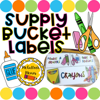 Supply Bucket Labels