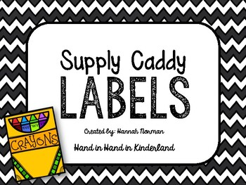 Supply Caddy Labels
