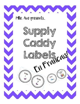 Supply Caddy Labels - French