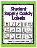Supply Caddy Labels for Student Tables / Small Groups