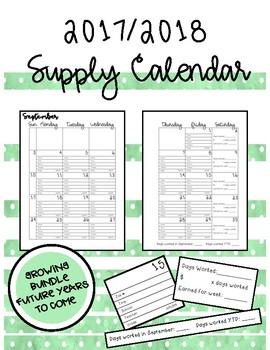 Supply Calendar - Growing Bundle