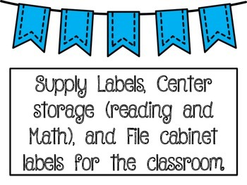 Supply, Center Games, and Classroom Labels