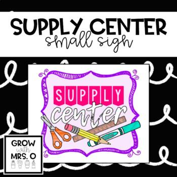 Supply Center Poster