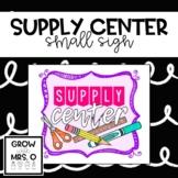 Supply Center Poster