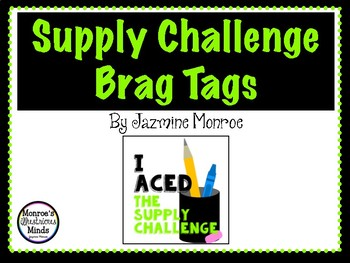 Supply Challenge Brag Tags