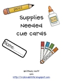 Supply Cue Cards
