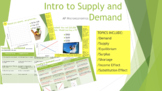 Supply, Demand, Equilibrium, Income & Substitution Effect Station Work