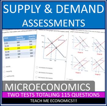 Supply And Demand Test Teaching Resources Teachers Pay Teachers