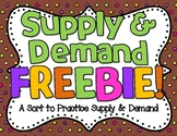 Supply & Demand Sort FREEBIE!