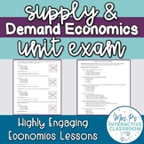 Supply & Demand Unit Exam (Distance Learning!)