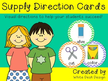 Supply Direction Cards {Chevron}