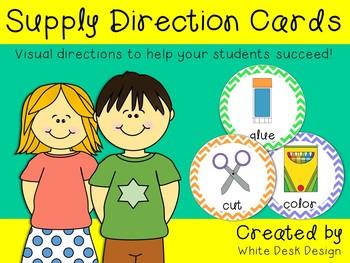 Visual Direction Cards {Chevron}