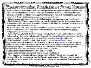 Open House Toolkit, with Back-to-School Donation Cards