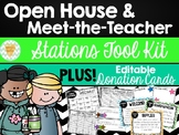 Open House/Meet-the-Teacher EDITABLE Stations Toolkit