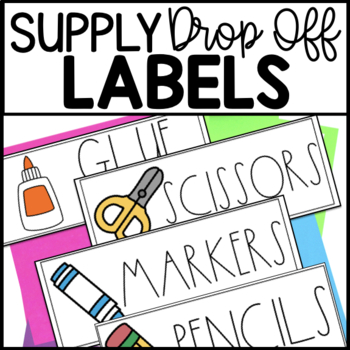 Supply Drop Off Supply Labels