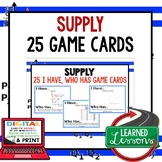 Supply GAME CARDS (Economics and Free Enterprise Test Prep)