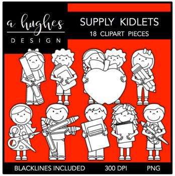 Supply Kidlets Clipart {A Hughes Design}