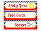 Supply Label Inserts for Sterlite Drawers - Chevron/Nautical Style