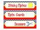 Supply Label Inserts for Sterlite Drawers - Chevron/Nautic