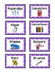 Supply Labels - PURPLE