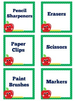 Classroom Labels English   Classroom Supply Labels