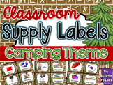 Supply Labels Camping Theme
