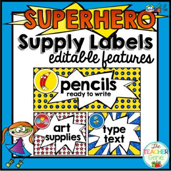 Super Hero Supply Labels
