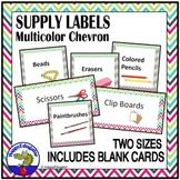 Supply Labels - Chevron - Editable